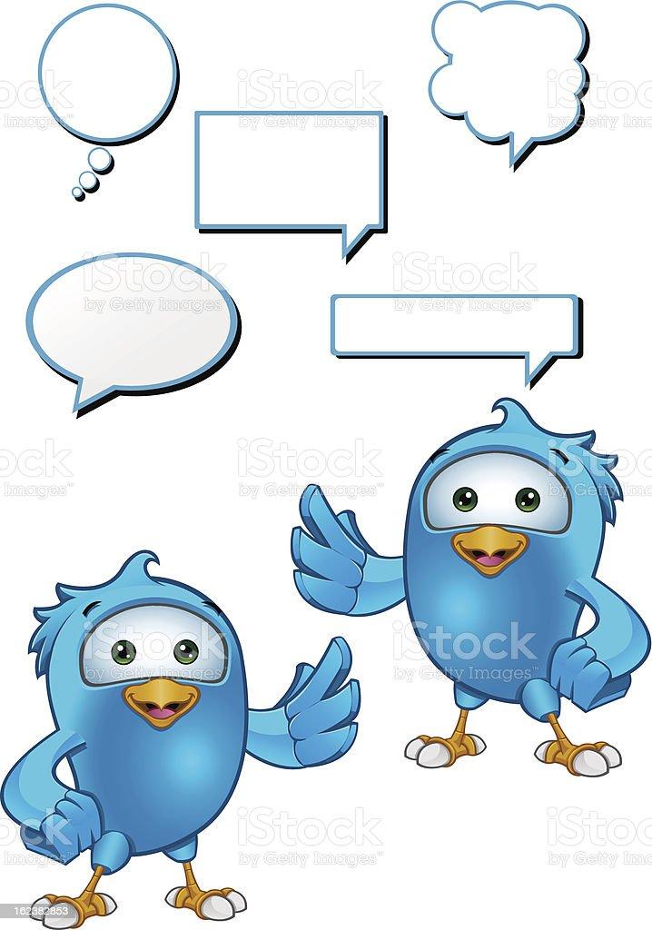 Blue Bird - Presenting royalty-free stock vector art