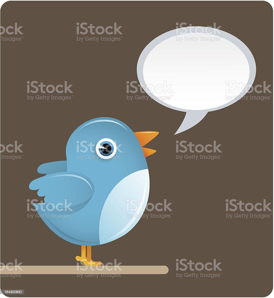 Blue Bird Tweet royalty-free stock vector art