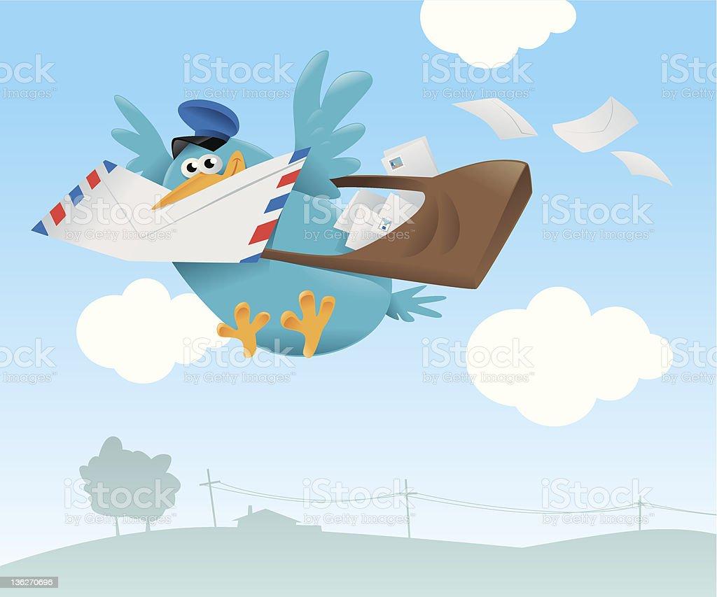 Blue Bird stock vecteur libres de droits libre de droits