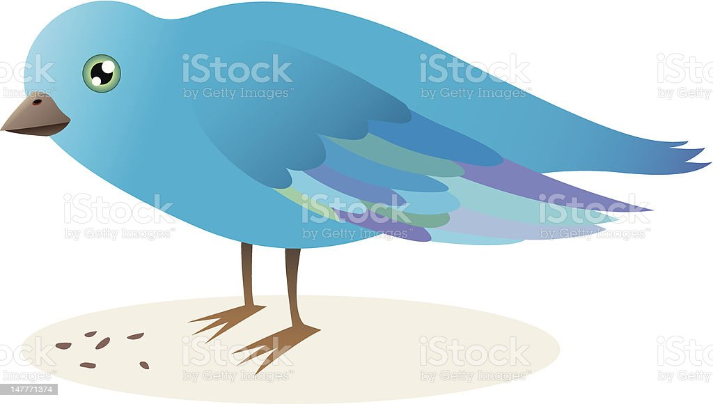 Blue bird with seed royalty-free stock vector art