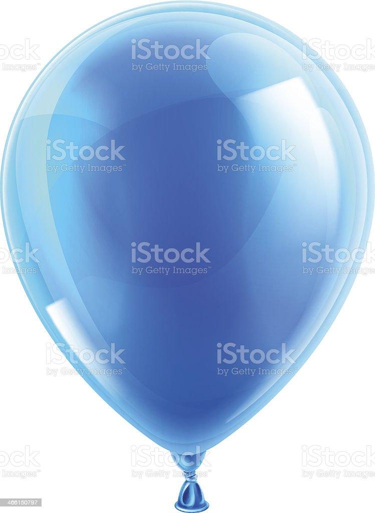 Blue birthday or party balloon vector art illustration