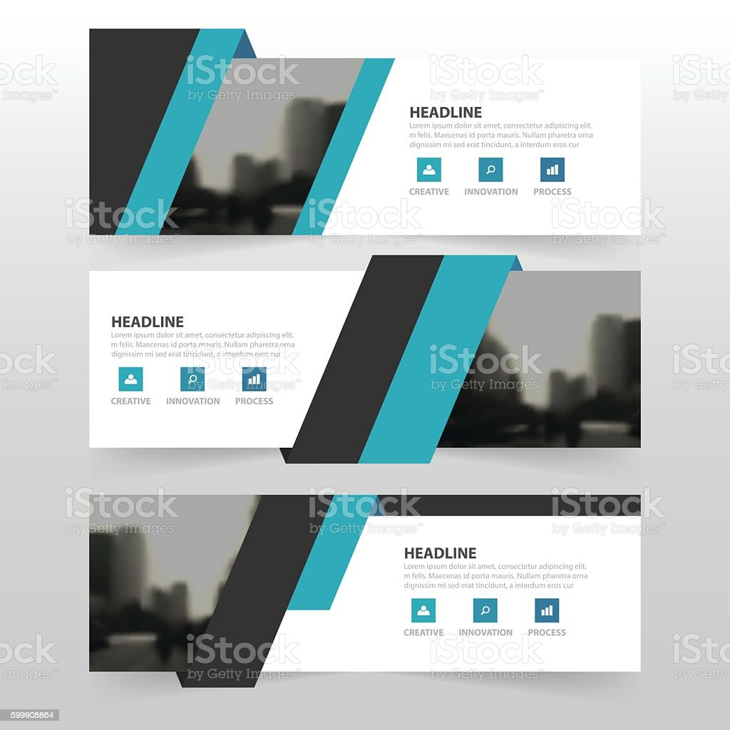 blue black corporate business banner template horizontal 1 credit