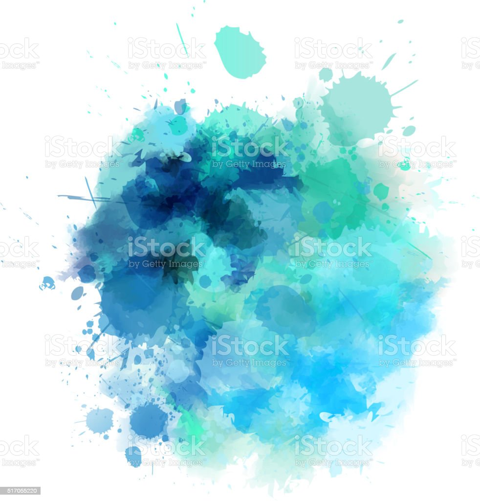 Blue blot vector art illustration