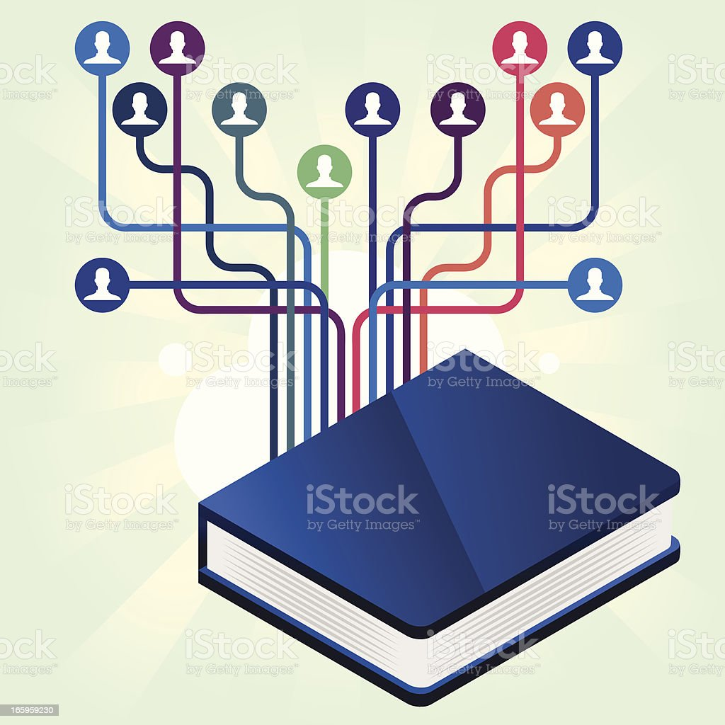 Blue book contacts royalty-free stock vector art