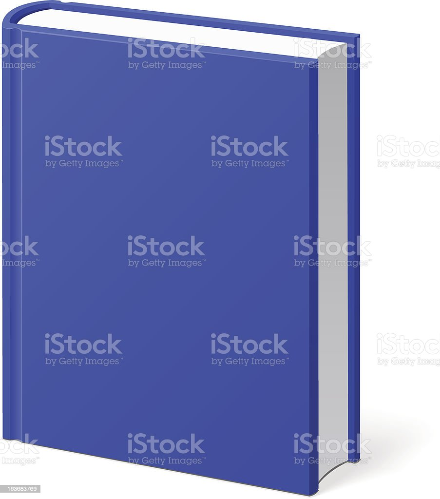 Blue Book Isolated royalty-free stock vector art