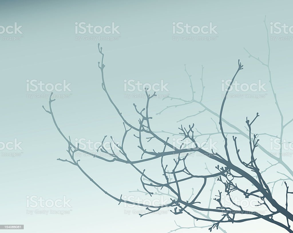 Blue Branches royalty-free stock vector art