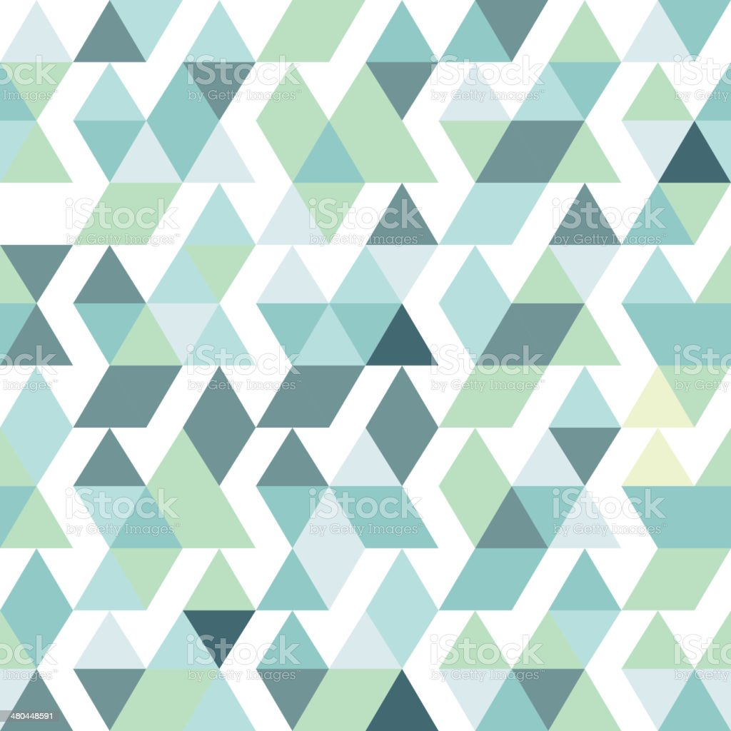 blue bright abstract triangles background vector art illustration