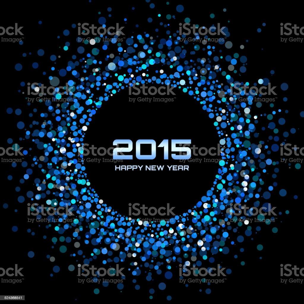 Blue Bright New Year 2015 Background vector art illustration