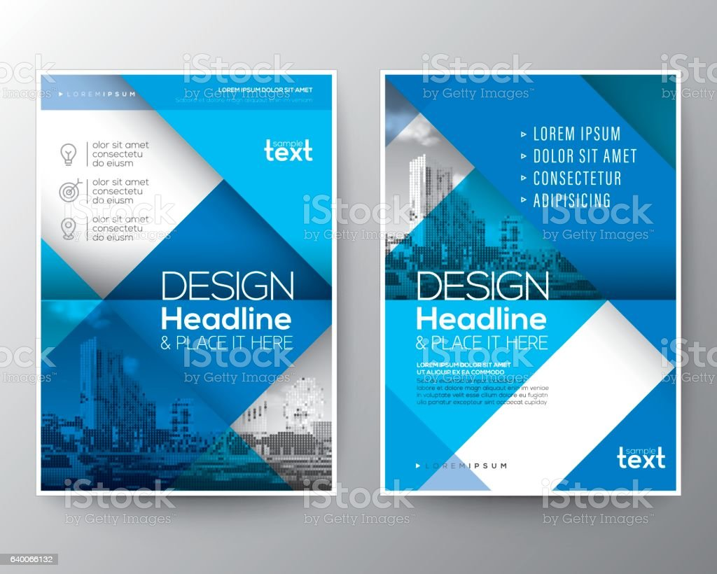 blue brochure annual report cover flyer poster design layout 1 credit