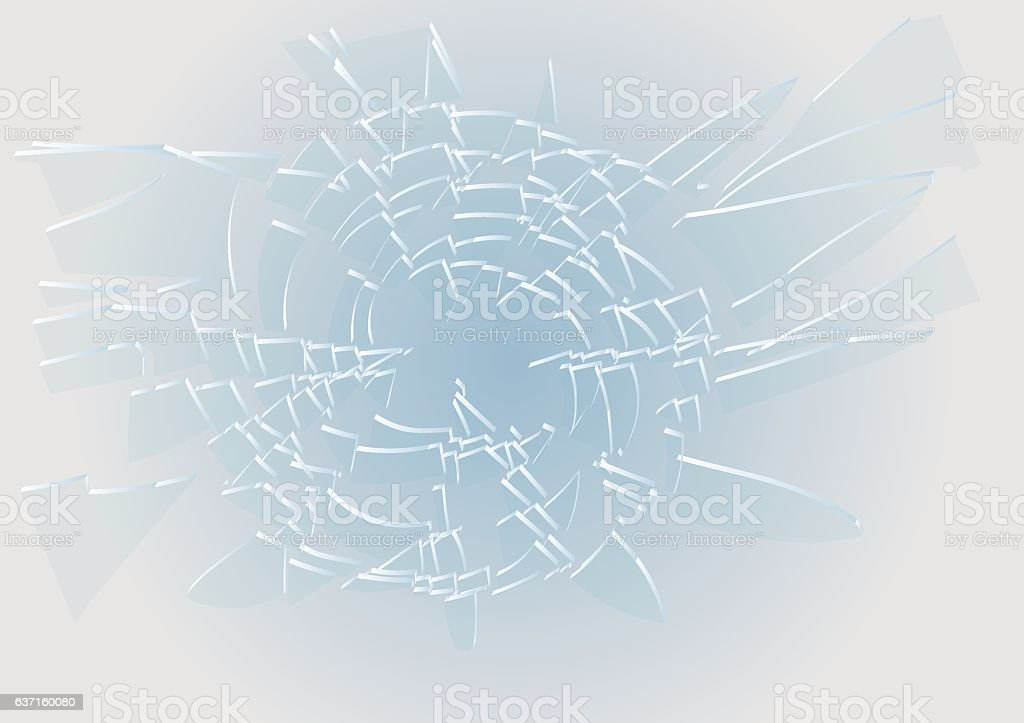 blue broken glass vector art illustration