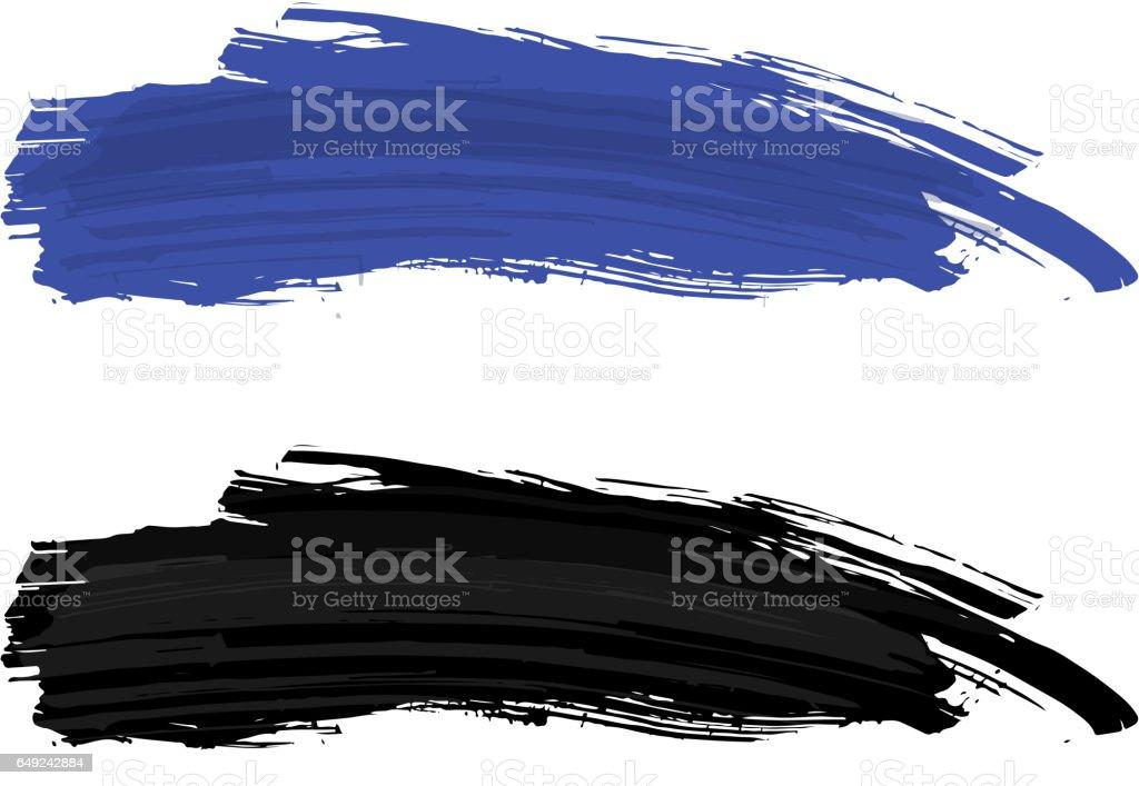 blue brush stroke vector art illustration