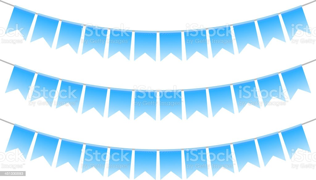blue bunting royalty-free stock vector art