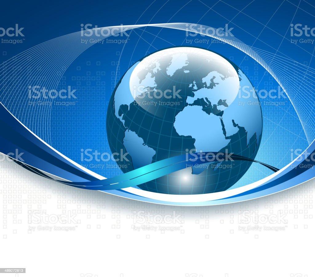 Fondo de negocios azul illustracion libre de derechos libre de derechos