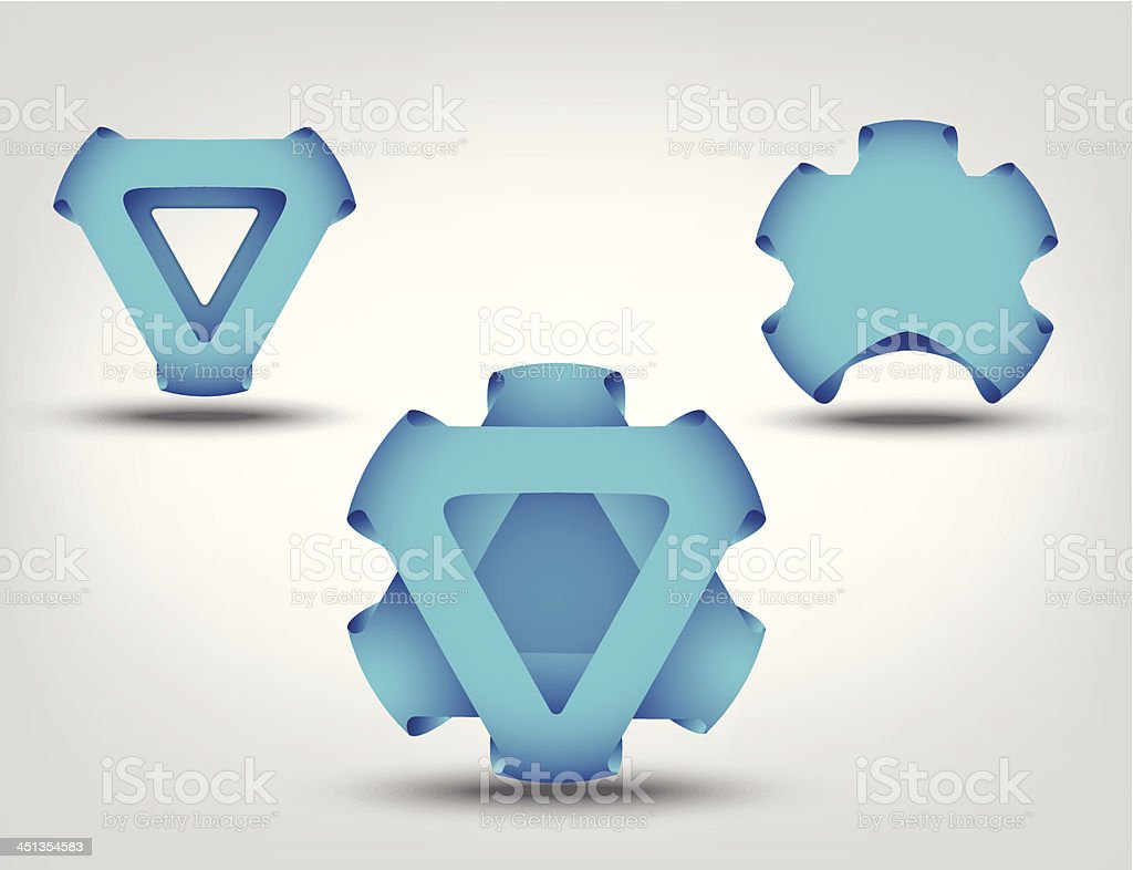 Blue business symbol abstract set royalty-free stock vector art
