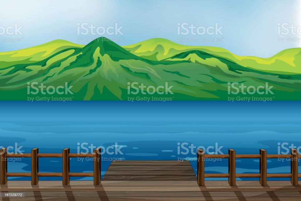Blue calm sea royalty-free stock vector art