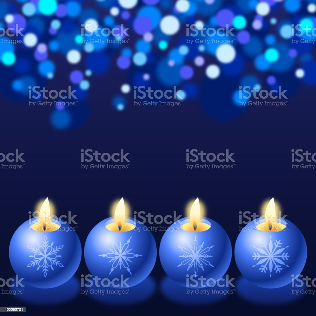 Blue Candlelight royalty-free stock vector art