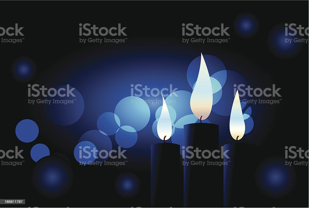 Blue candles royalty-free stock vector art