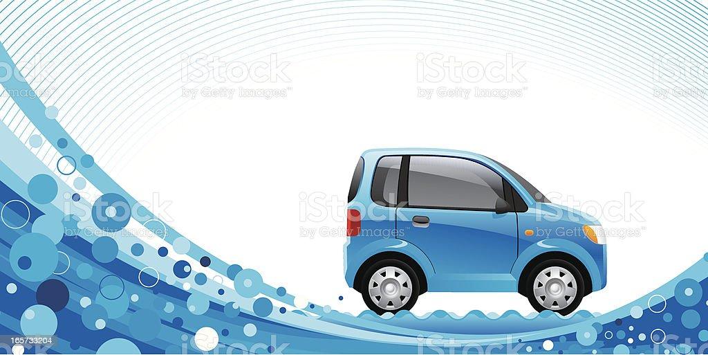 Blue car vector art illustration