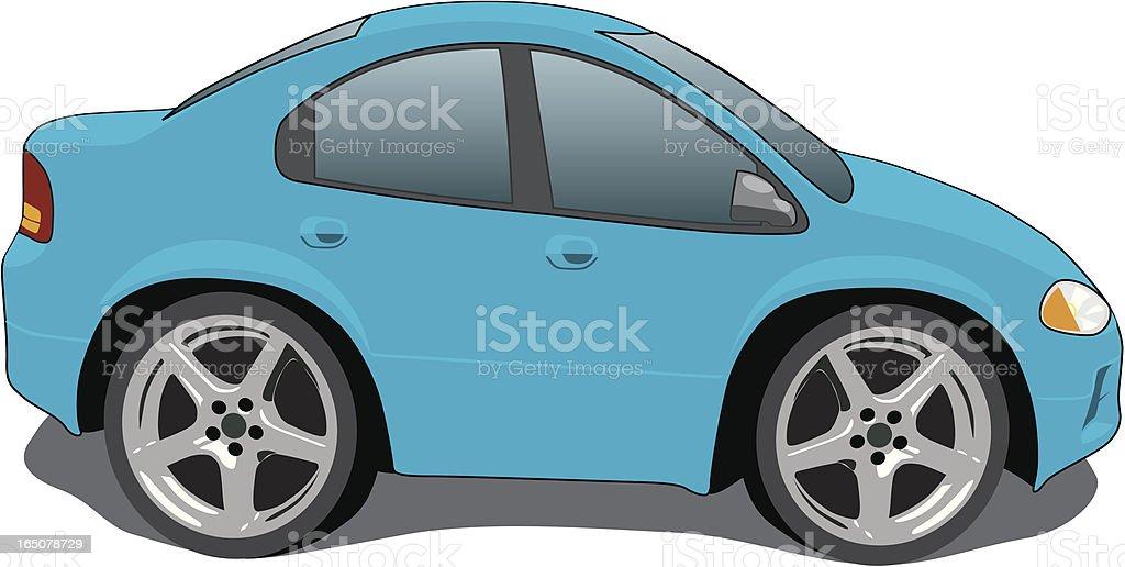 Blue Cartoon Car royalty-free stock vector art