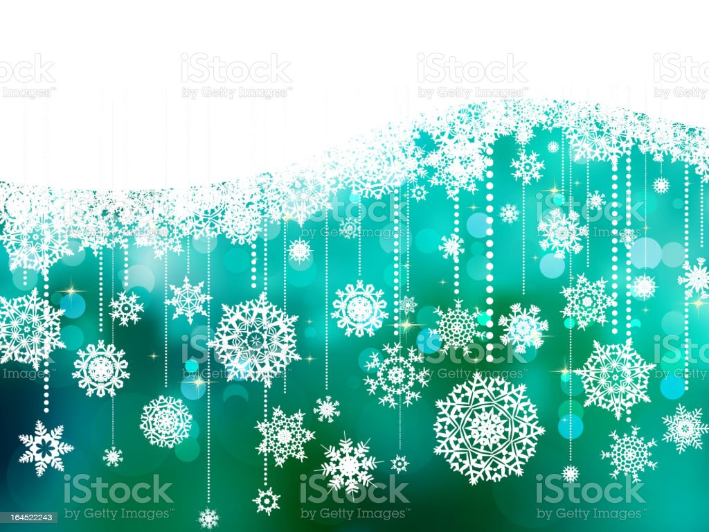 Blue christmas background with copy space. EPS 8 royalty-free stock vector art