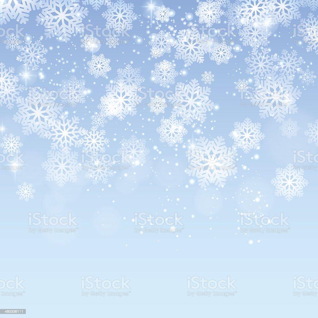 Fundo azul de Natal com neve vetores vetor e ilustração royalty-free royalty-free
