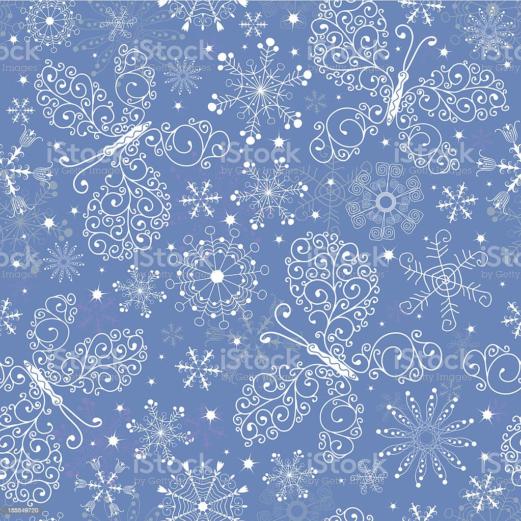 Blue christmas repeating pattern royalty-free stock vector art