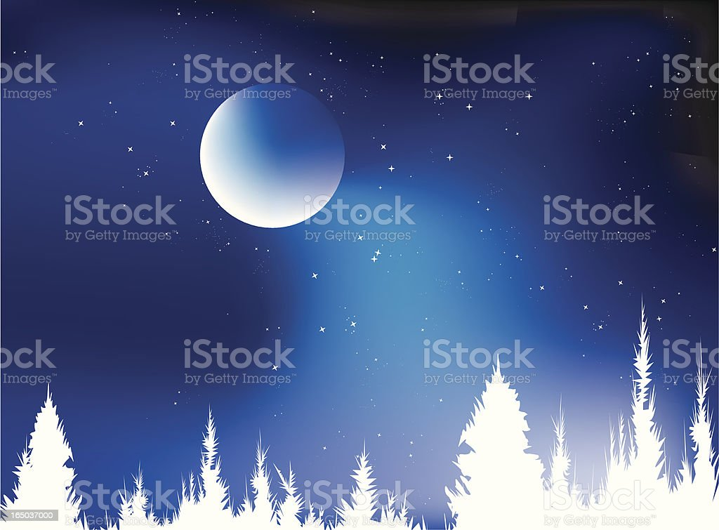 Blue Christmas royalty-free stock vector art