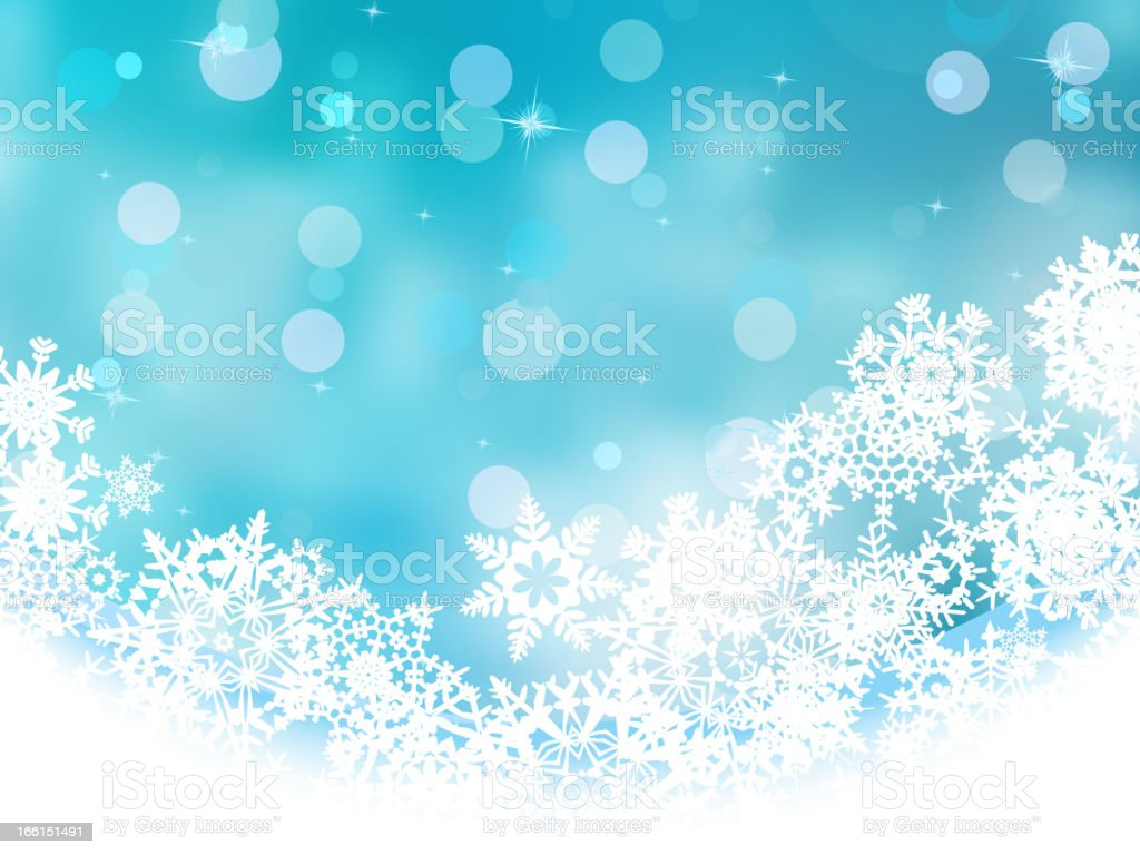 Blue christmas with white snowflake. EPS 8 royalty-free stock vector art