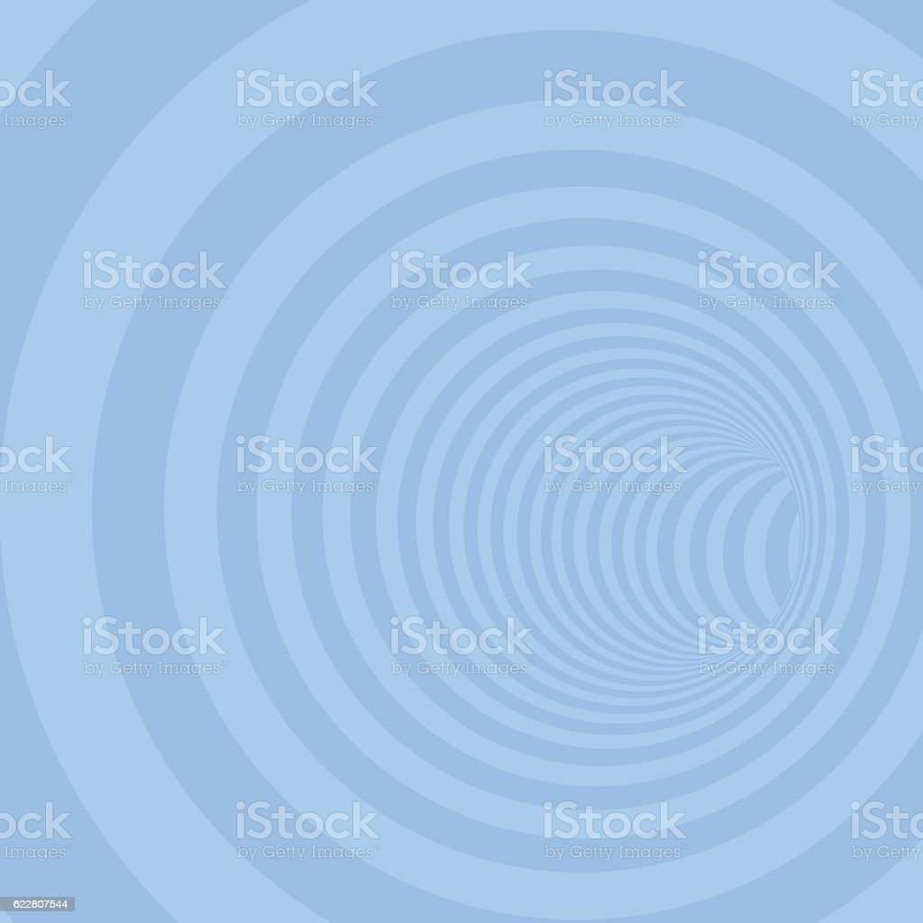 Blue Circle Striped Abstract Tunnel vector art illustration