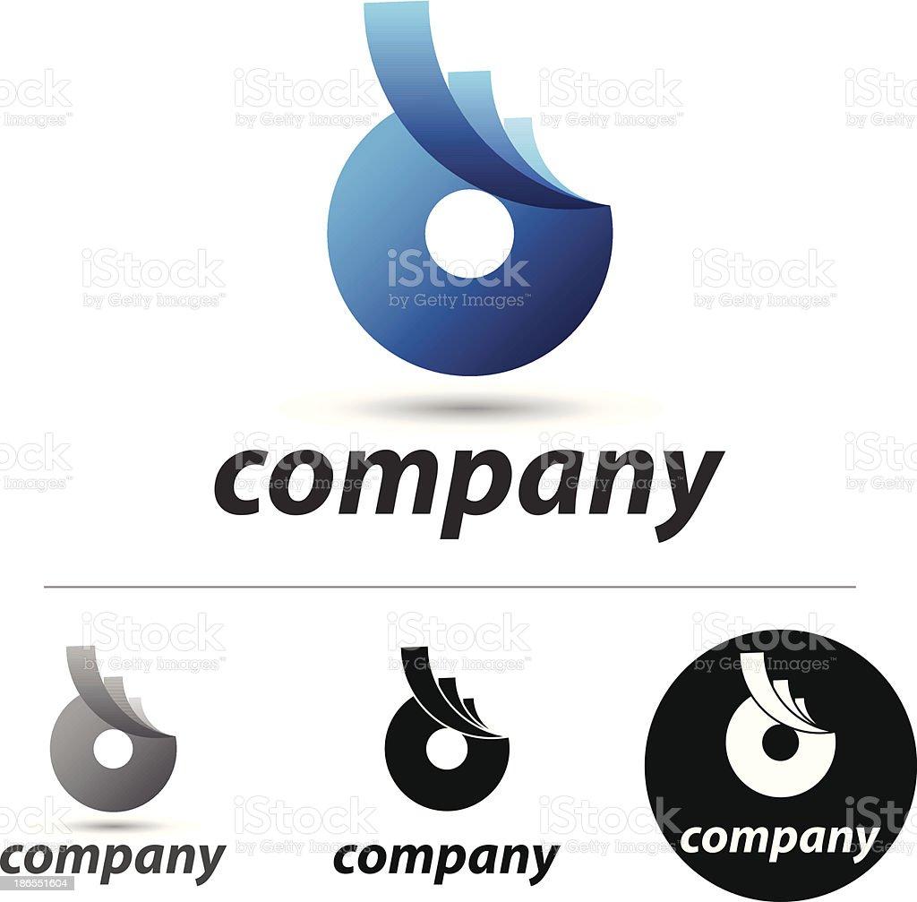 Blue circle royalty-free stock vector art