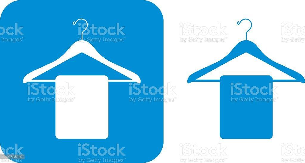 Blue Coat Hanger Icons vector art illustration