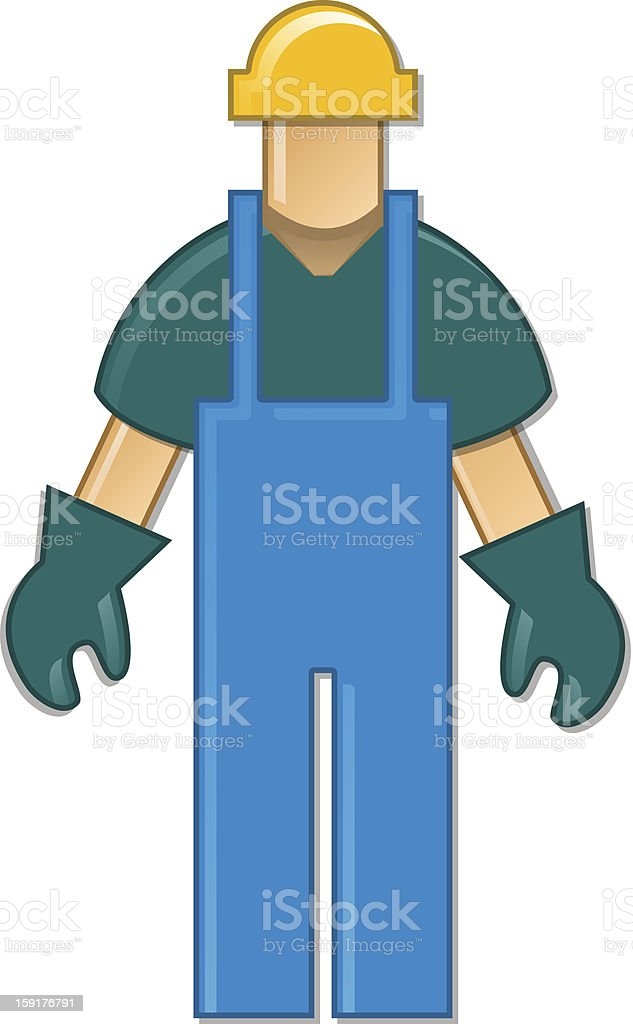 Blue collar worker royalty-free stock vector art