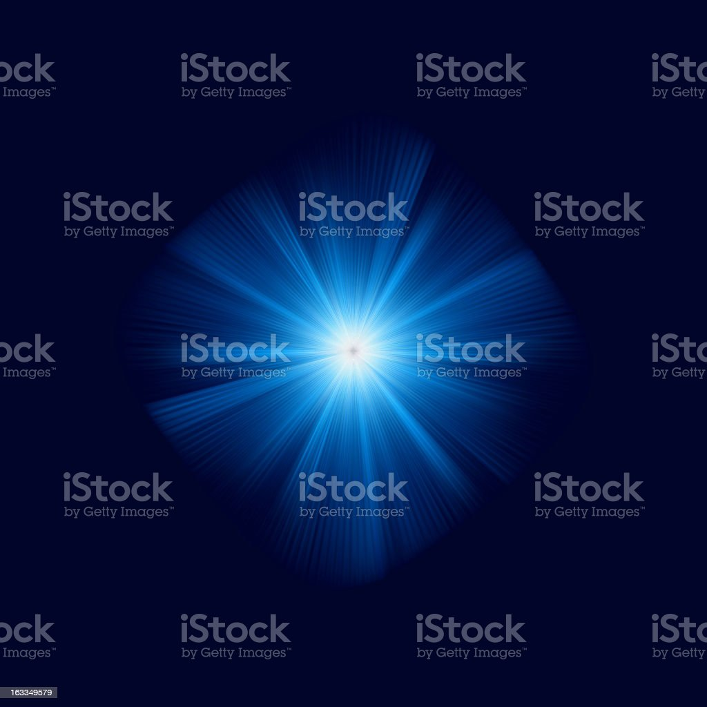 Blue color design with a burst. EPS 8 royalty-free stock vector art