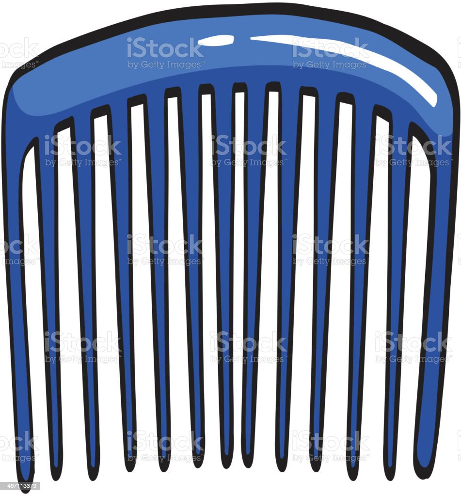 blue comb royalty-free stock vector art