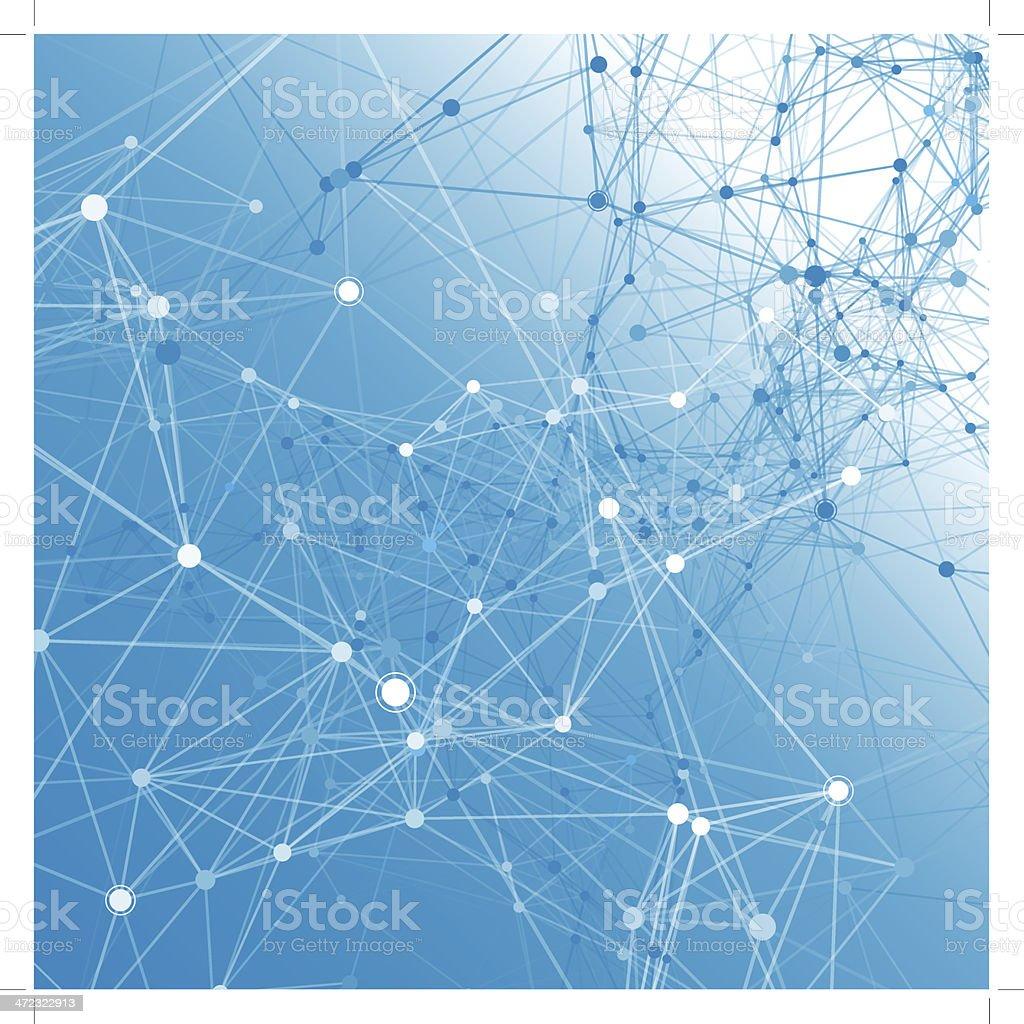 Blue communication background. vector art illustration