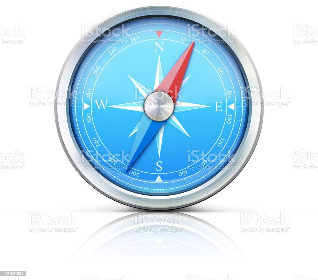 blue compass royalty-free stock vector art