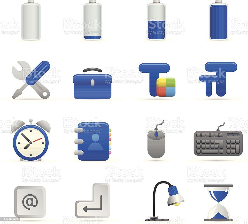Niebieski komputer ikony stockowa ilustracja wektorowa royalty-free