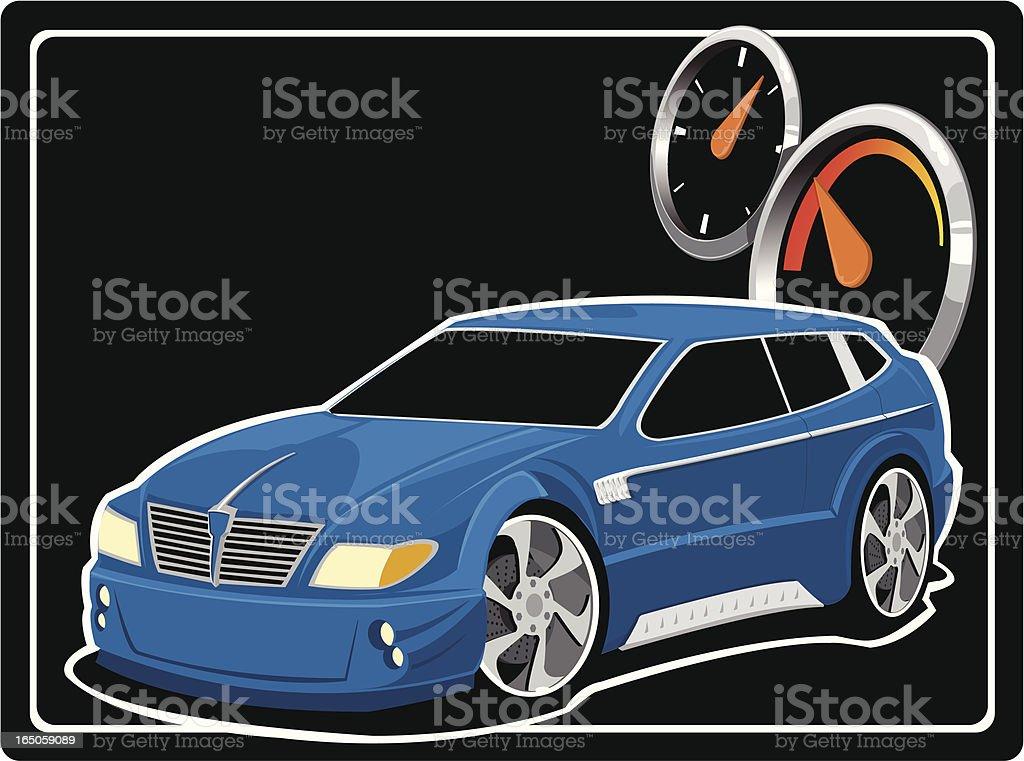 Blue Concept Car royalty-free stock vector art