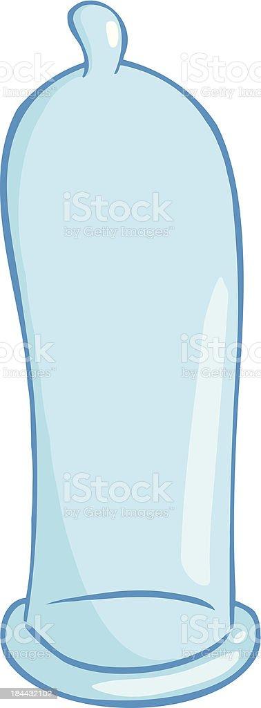 Blue Condom royalty-free stock vector art