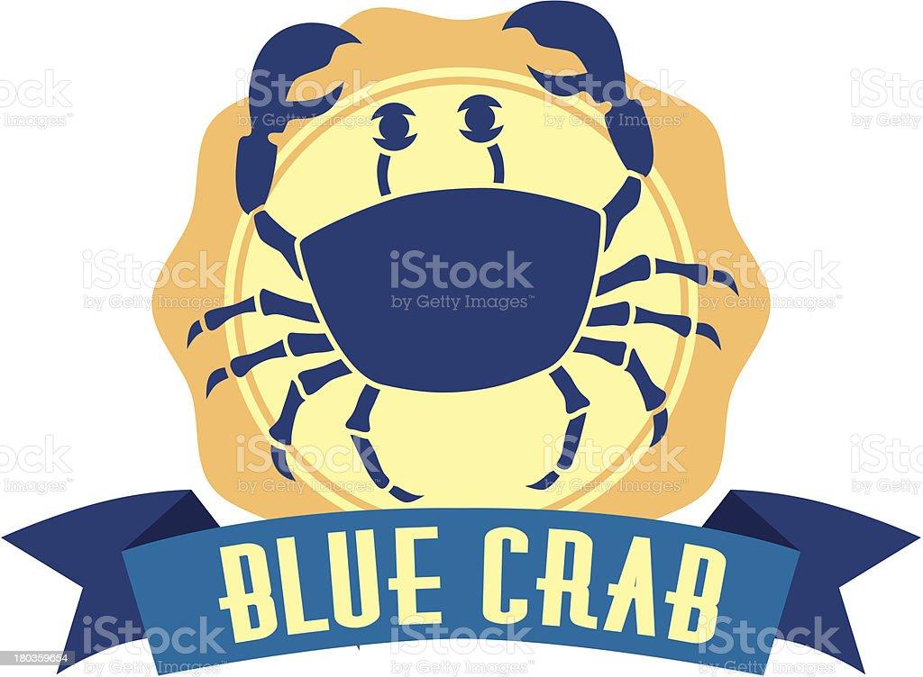 blue crab royalty-free stock vector art