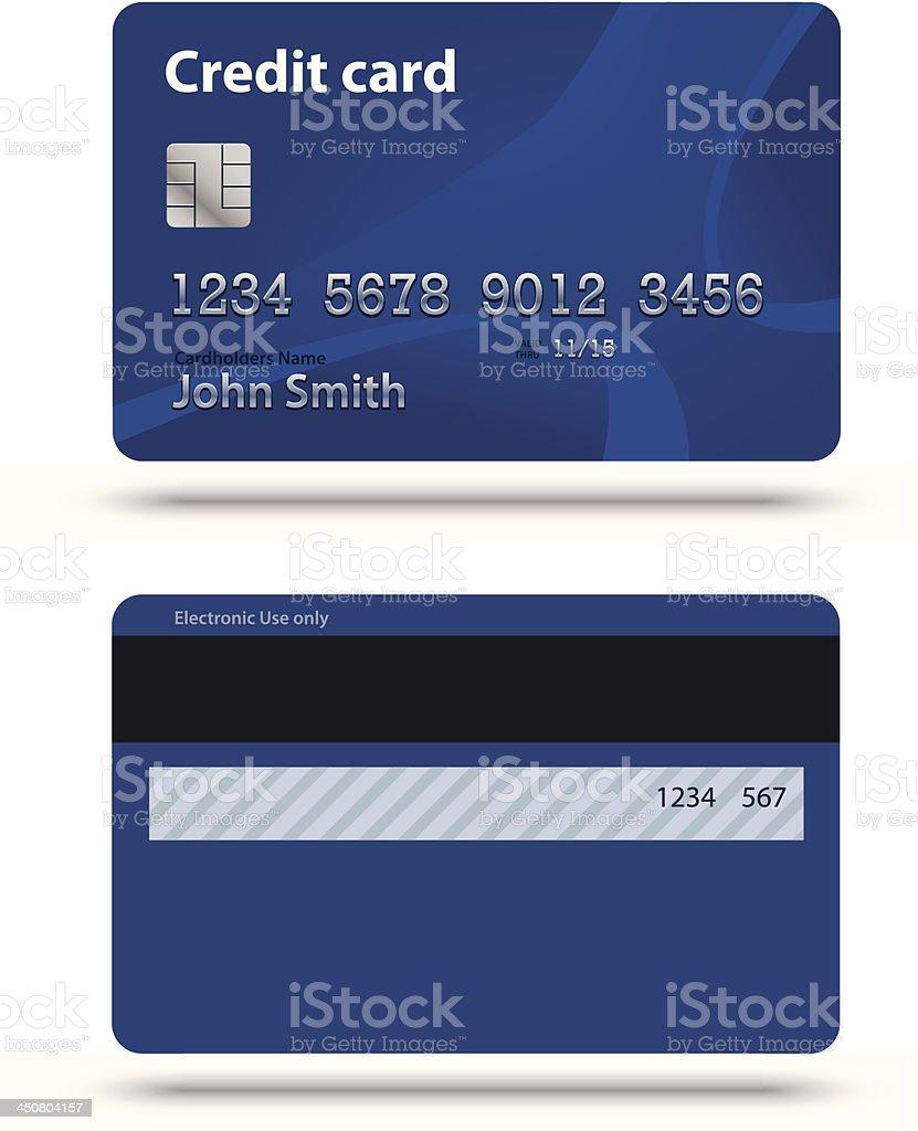 Blue creadit card vector art illustration