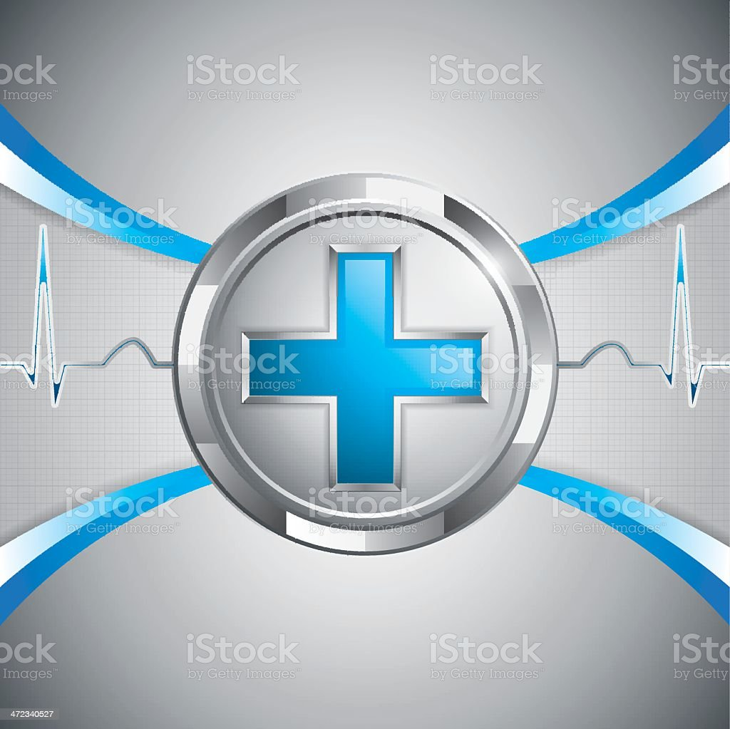Blue cross alternative medication concept royalty-free stock vector art