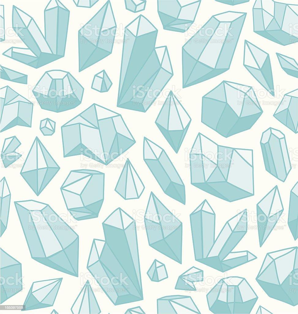Blue crystal seamless background pattern vector art illustration