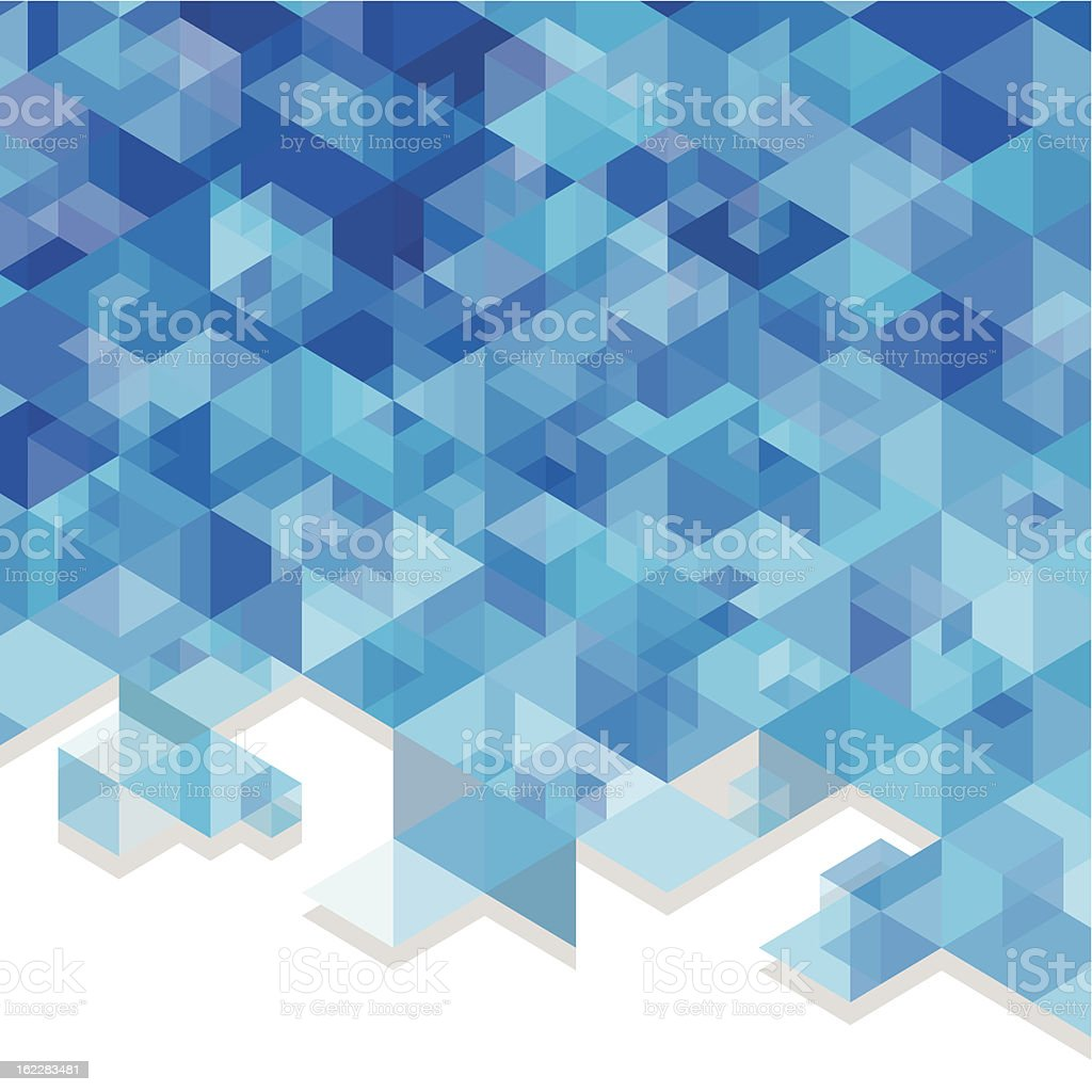 blue cubes vector art illustration