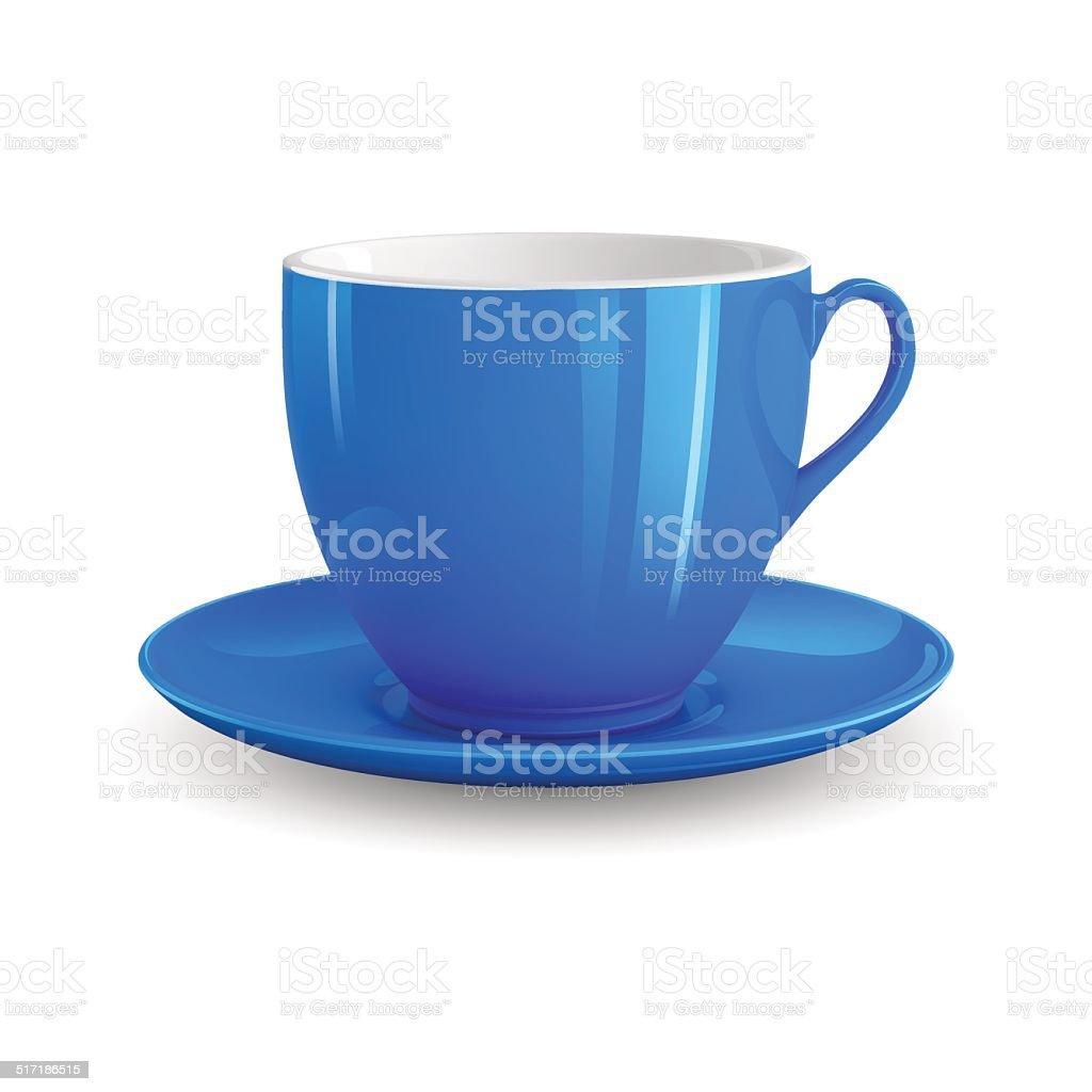Blue Cup vector art illustration