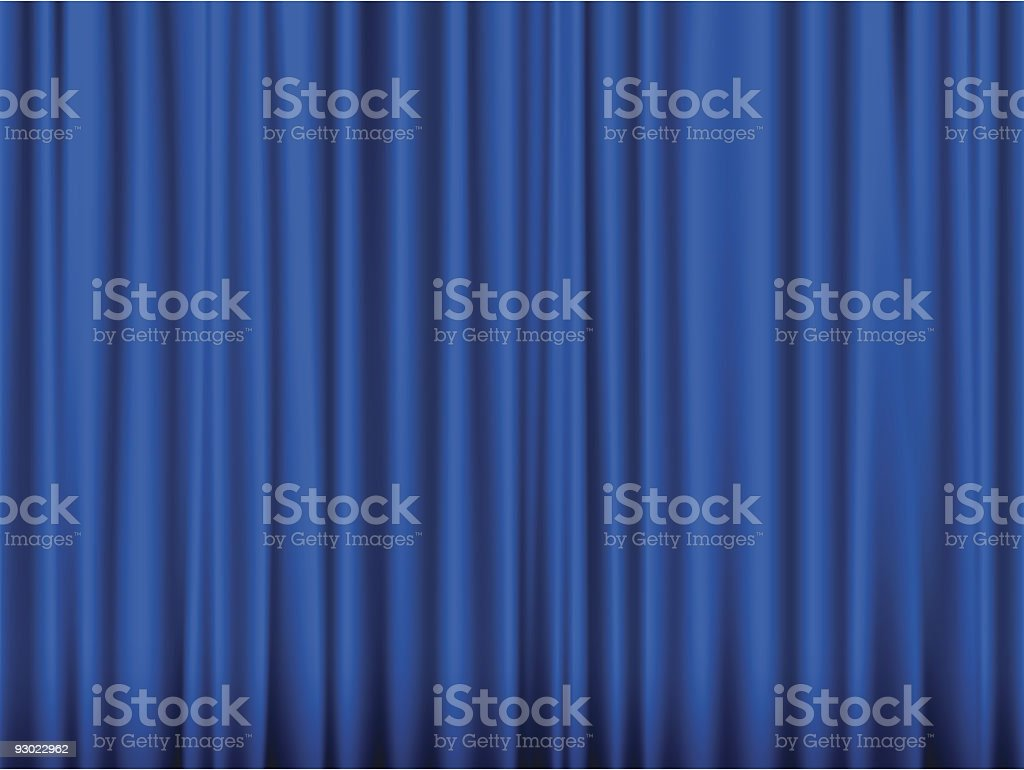 Blue curtain royalty-free stock vector art