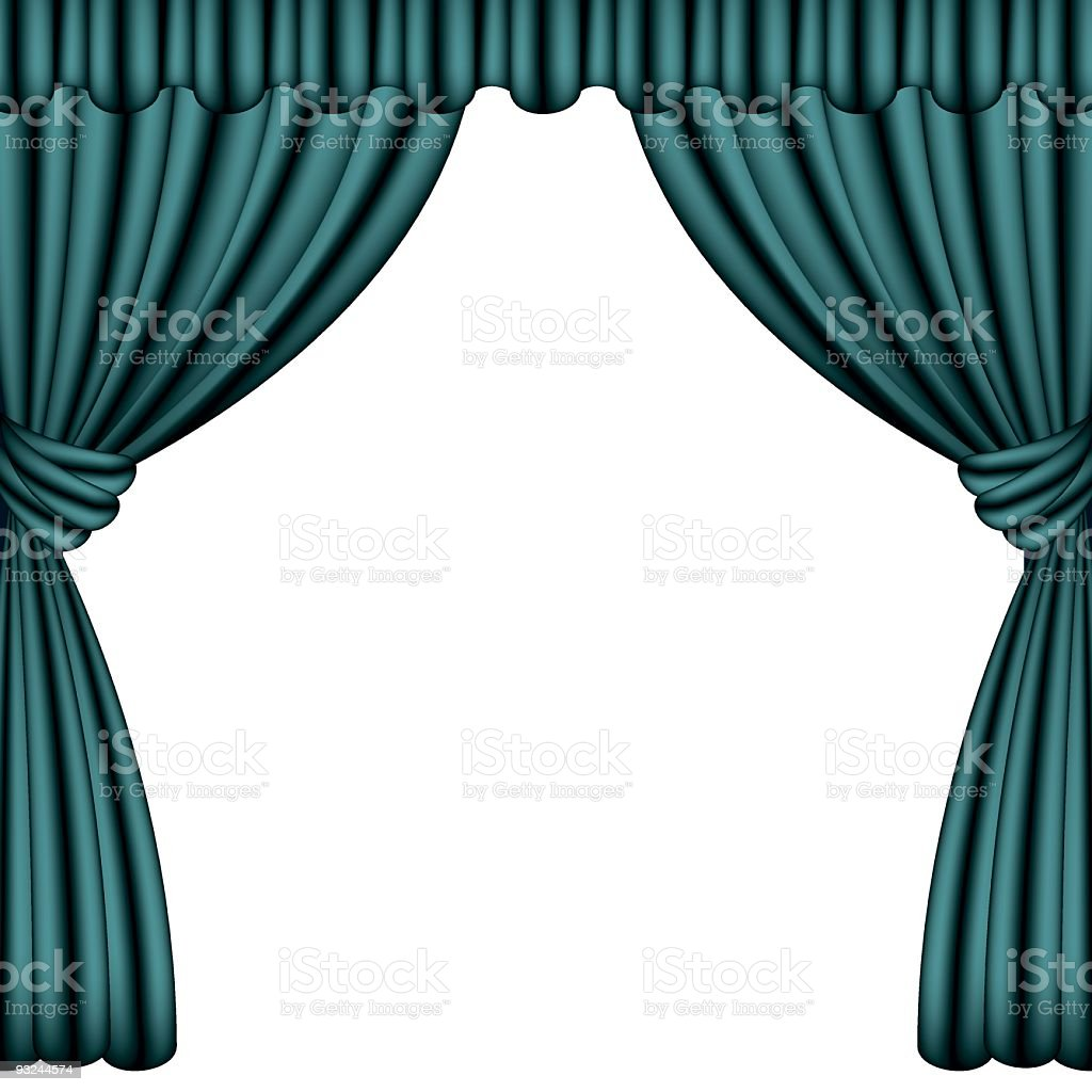 blue curtains royalty-free stock vector art