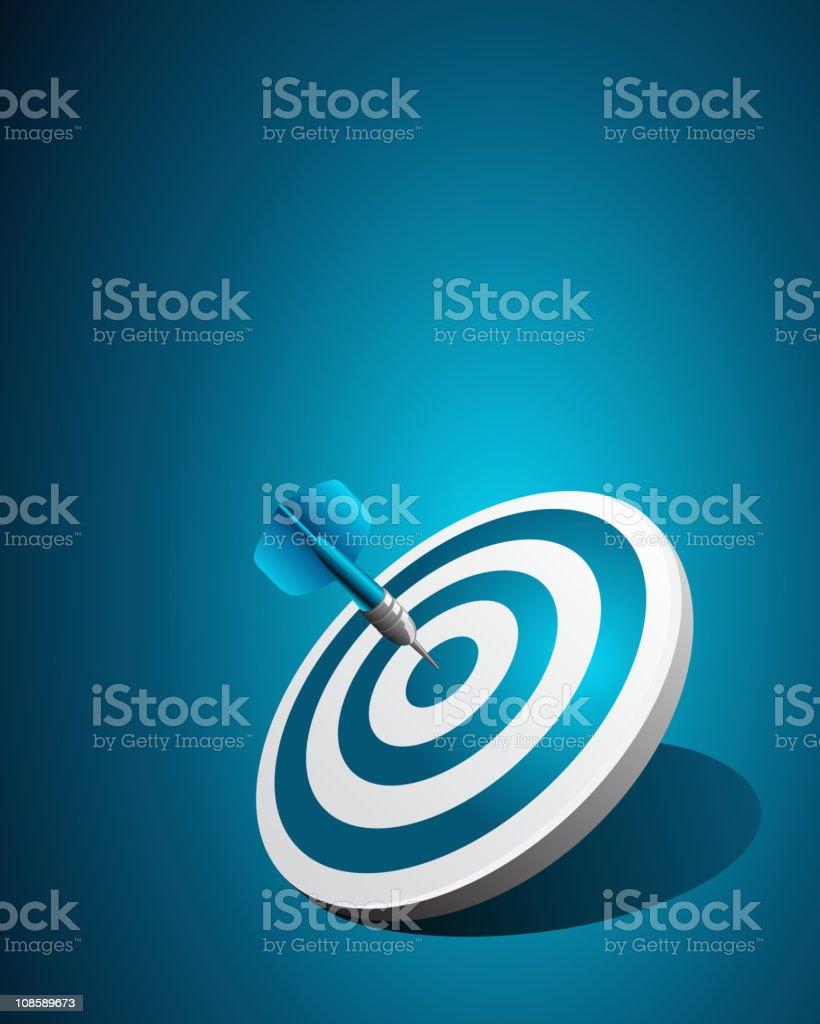 Blue dart success royalty-free stock vector art