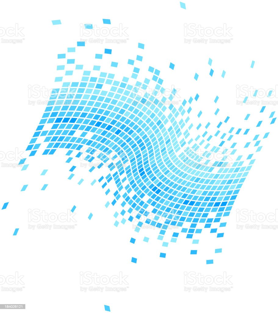 blue data flowing background royalty-free stock vector art