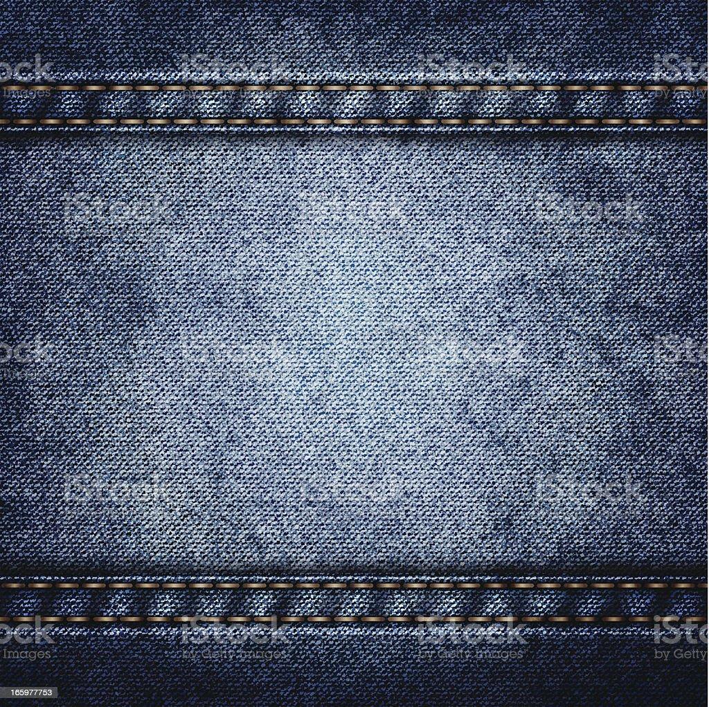 Blue denim vector art illustration